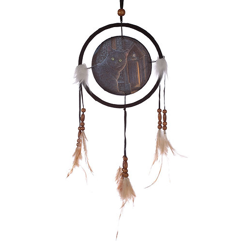 Decorative Cat Design What Lies Within 16cm Dreamcatcher Novelty Gift