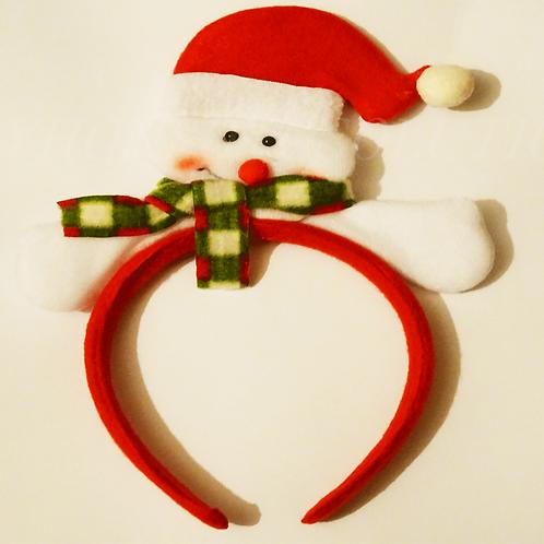 Christmas Ribbon Hair Accessory Decoration Party Head Hoop Headband Hat Present