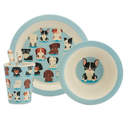Bamboo Composite Dog Squad Kids Dinner Set Novelty Gift