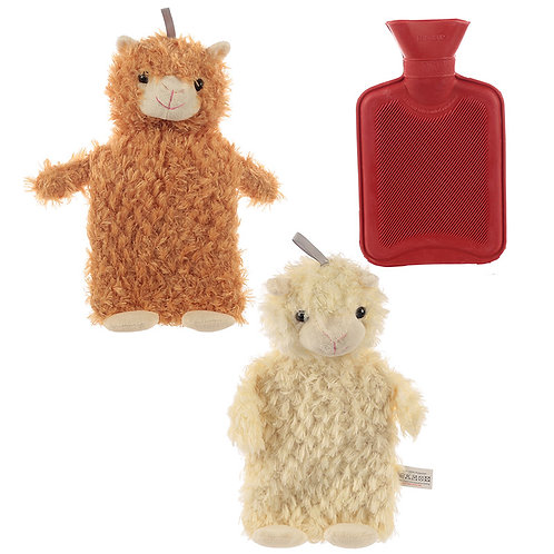 Cute Llama Plush Hot Water Bottle and Cover Novelty Gift