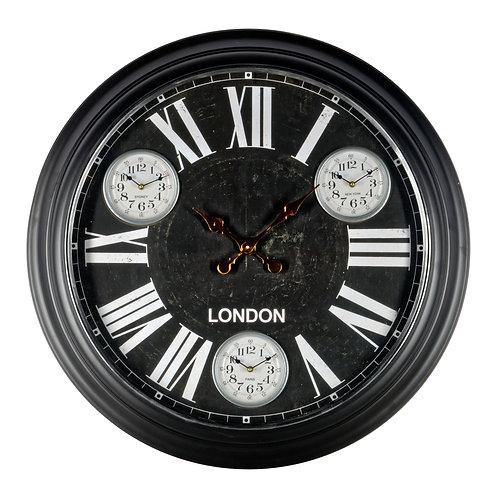 Black Metal Wall Clock 97cm Shipping furniture UK