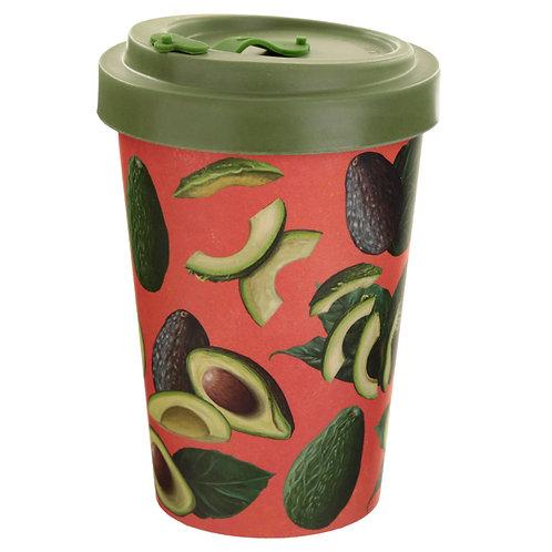 Bamboo Composite Avocado Screw Top Travel Mug Novelty Gift