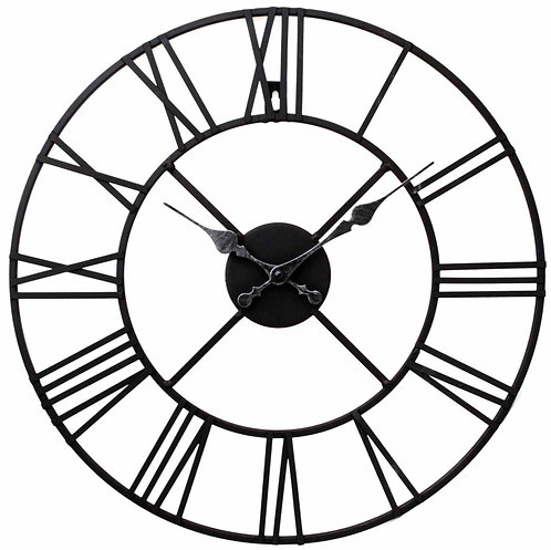 Metal Clock, Roman Numeral 60cm Shipping furniture UK