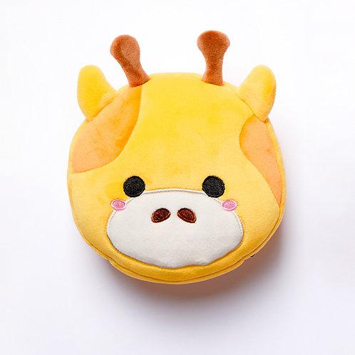Cutiemals Giraffe Plush Round Travel Pillow & Eye Mask Set Novelty Gift