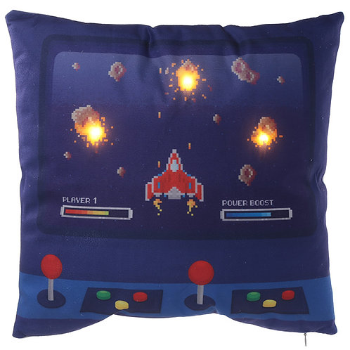 Decorative LED Cushion - Game Over Design Novelty Gift