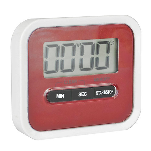 Magnetic Kitchen Timer - Red | Home Essentials UK