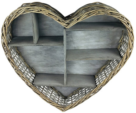 Wicker Heart Shelf Unit 52cm Shipping furniture UK
