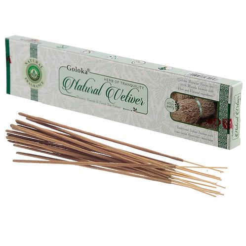 Goloka Incense Sticks - Natural Vetiver Novelty Gift
