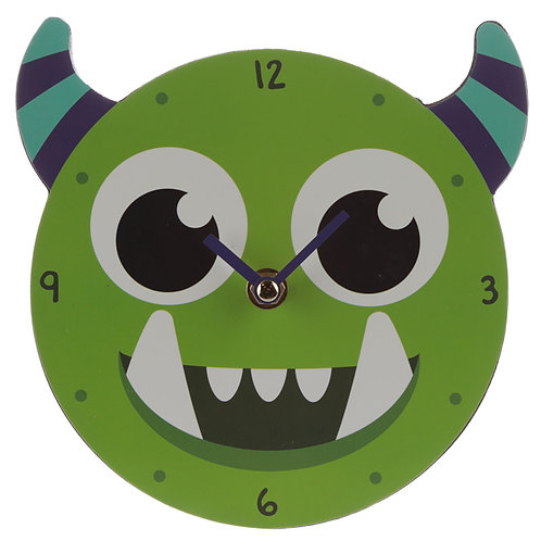 Decorative Monster Monstarz Green Wall Clock Novelty Gift