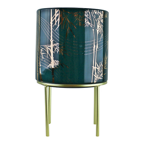 Large Eastern Planter With Stand Featuring Bamboo Design Shipping furniture UK