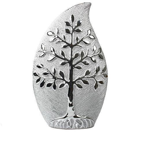Silver Tree Of Life Vase 35cm  Shipping furniture UK