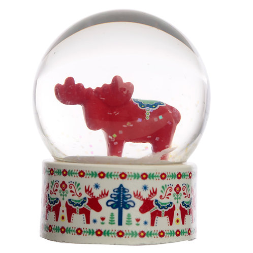 Collectable Scandi Moose Snow Globe Waterball Novelty Gift