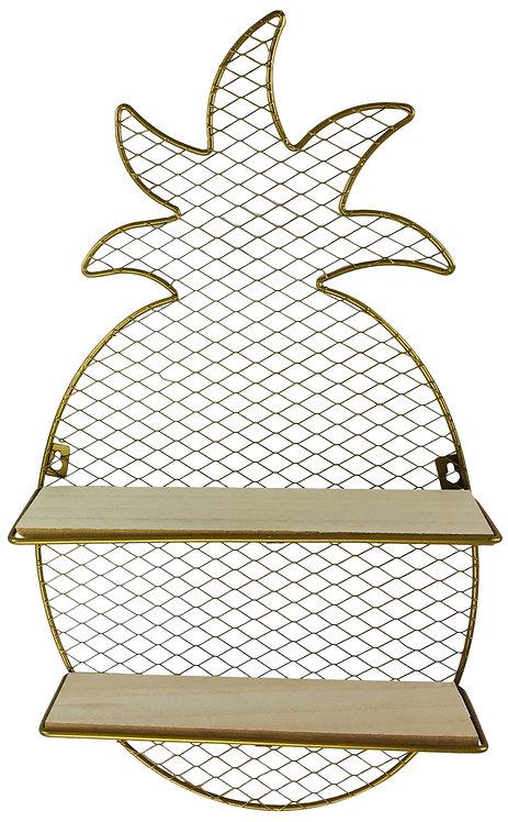 Pineapple Wire Shelf Unit Gold 50cm Shipping furniture UK