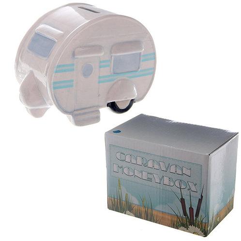 Fun Novelty Ceramic Caravan Money Box Novelty Gift