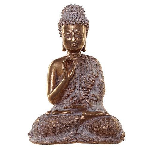 Thai Buddha Figurine - Gold and White Serenity Novelty Gift