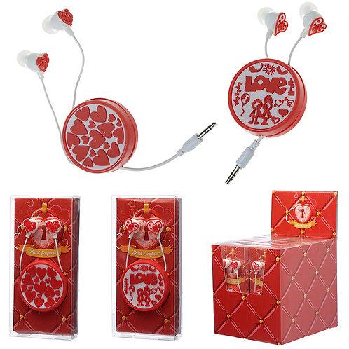 Funky Earphones - Love Design Novelty Gift
