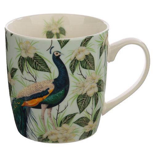 Collectable Porcelain Mug - Peacock Novelty Gift