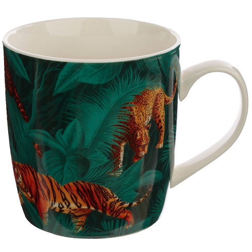 Collectable Porcelain Mug - Big Cat Spots and Stripes Novelty Gift
