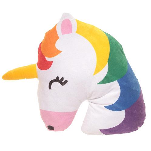 Rainbow Unicorn Emotive Cushion Novelty Gift