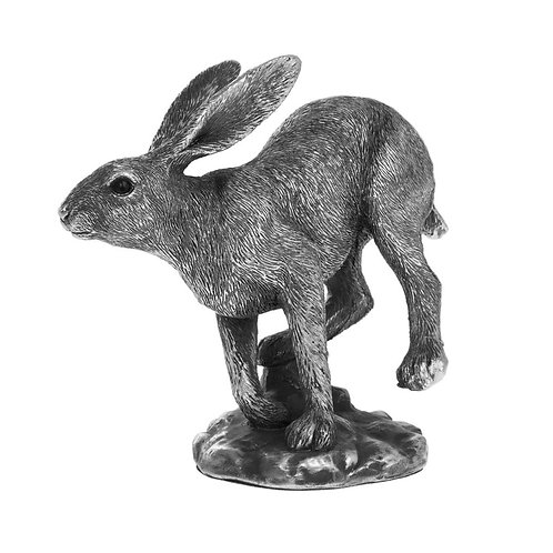 Reflections Silver Running Hare 15cm Shipping furniture UK