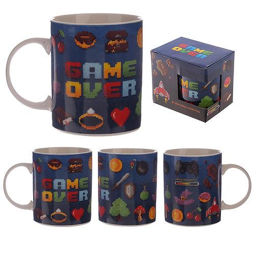 Collectable Porcelain Mug - Game Over Design Novelty Gift
