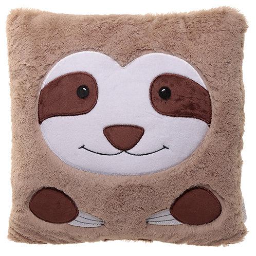 Fun Plush Sloth Face Cushion Novelty Gift