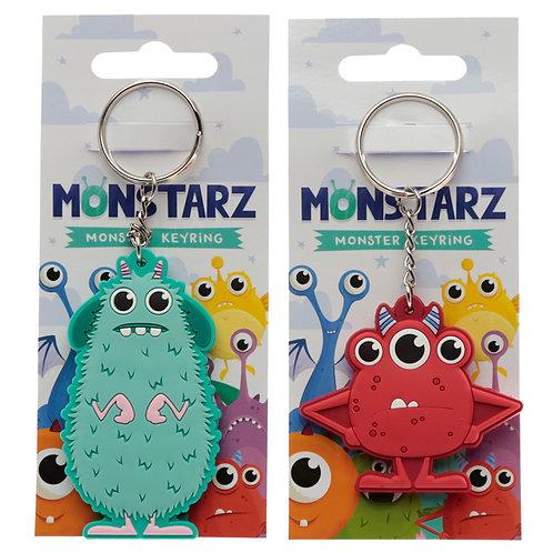 Fun Novelty Monster Monstarz PVC Keyring Novelty Gift [Pack of 2]