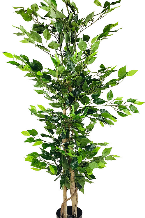 Artificial Ficus Tree with Natural Trunk 125cm Shipping furniture UK