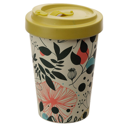 Bamboo Composite Wisewood Botanical Screw Top Travel Mug Novelty Gift