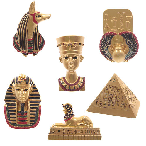 Decorative Gold Egyptian Magnet [Pack of 2] Novelty Gift