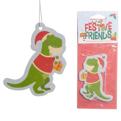 Christmas Spice Festive Friends Dinosaur Air Freshener Novelty Gift