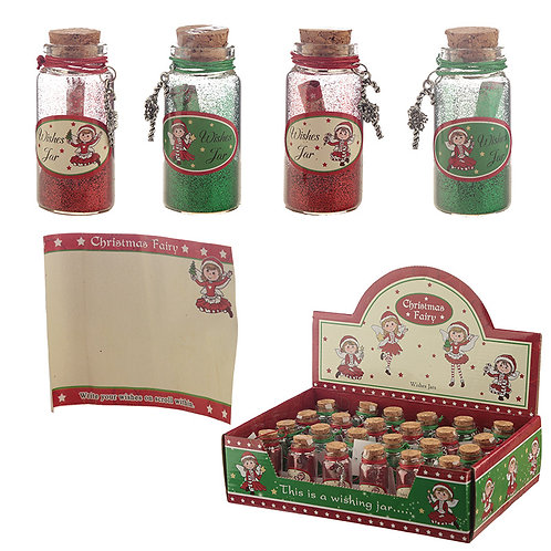 Festive Collectable Christmas Wishes Jar Novelty Gift