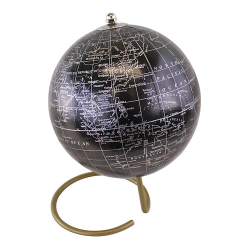 Decorative Freestanding Globe in Black Shipping furniture UK