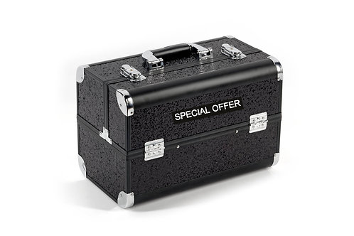 Vanity Case / Makeup Box Heavy Duty Black Glitter Shipping furniture UK