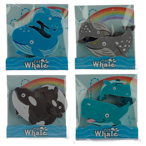 Fun Whale Eraser Set of 2 [Pack of 1] Novelty Gift