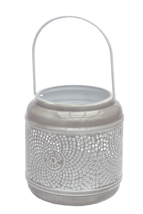 Extra Small Distressed Taupe Lantern Shipping furniture UK