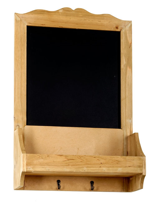 Chalk Board with Hooks & Shelf  37 x 13 x 58 cm Shipping furniture UK