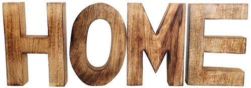 HOME Wooden Letters Sign Shipping furniture UK