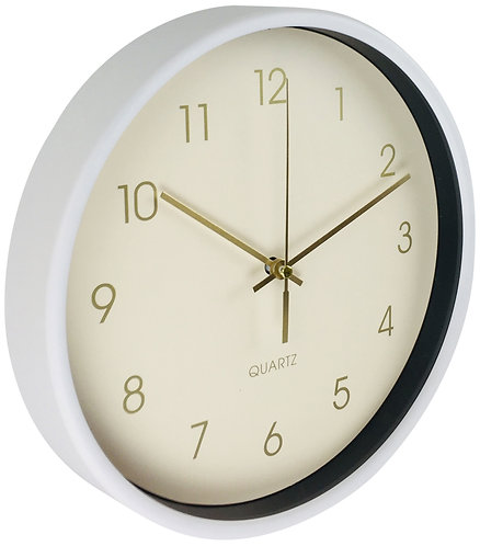 Round Wall Clock In White 25cm Shipping furniture UK