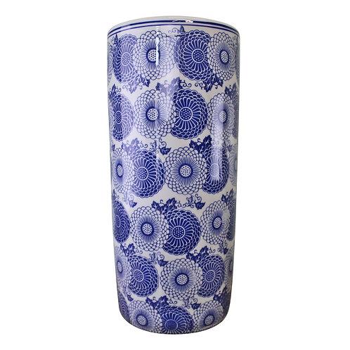 Umbrella Stand, Vintage Blue & White Marigold Design Shipping furniture UK