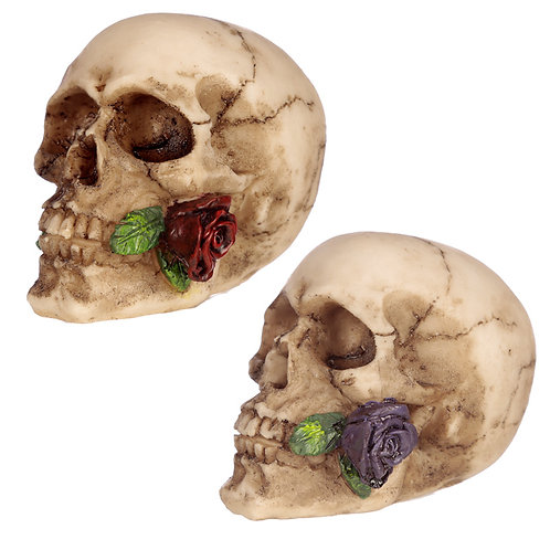 Novelty Gothic Skulls and Roses Ornament Gift