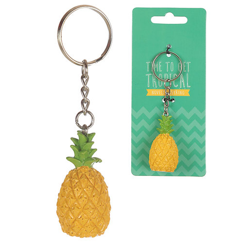 Fun Novelty Tropical Keyring - Pineapple Novelty Gift