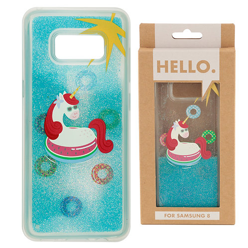 Samsung 8 Phone Case - Tropical Vacation Vibes Unicorn Novelty Gift