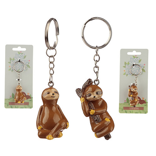 Fun Collectable Sloth Keyring Novelty Gift