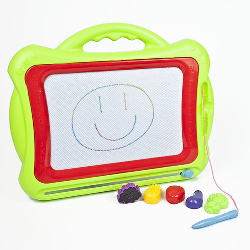 Childrens Magnetic Doodle Board - Green | Home Essentials UK