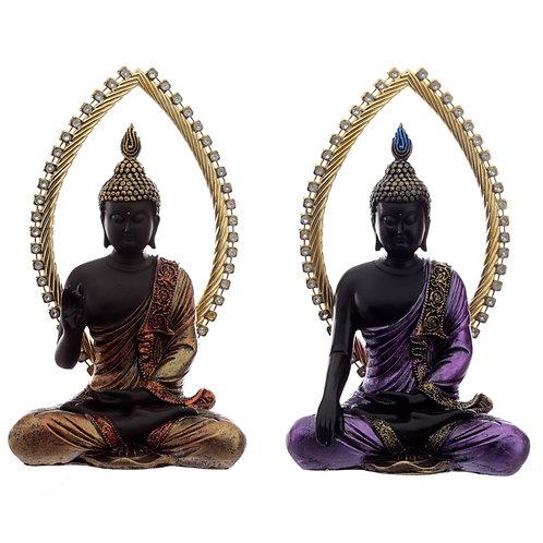 Decorative Gold and Black Buddha - Meditating Novelty Gift