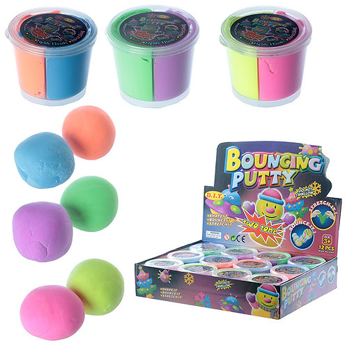 Novelty Gift Fun Kids Bouncing Putty - Two Tone
