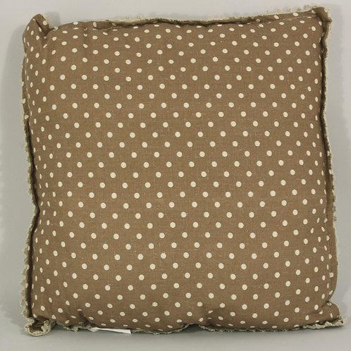 Brown Polka Dot Cushion Shipping furniture UK
