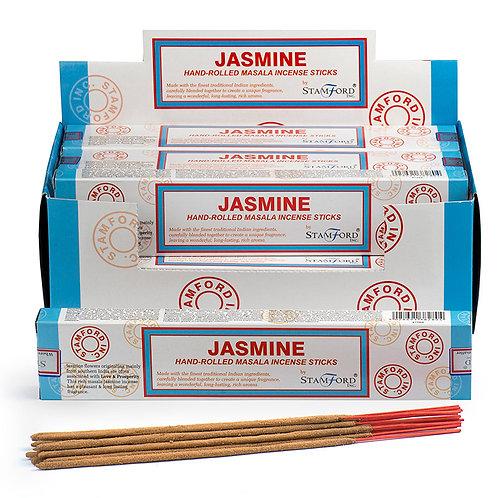 Stamford Masala Incense Sticks - Jasmine Novelty Gift [Pack of 12]
