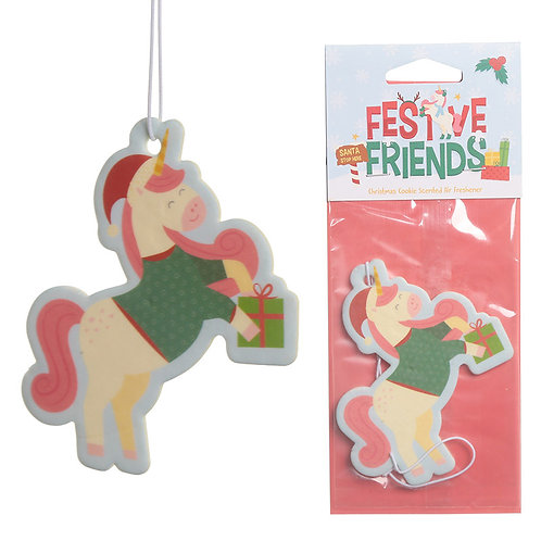 Christmas Cookie Festive Friends Unicorn Air Freshener Novelty Gift